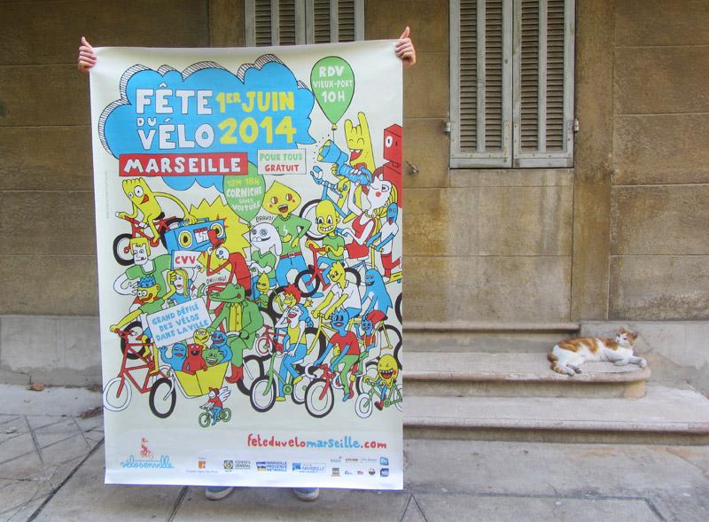 Affiche Fete du velo 2014 à Marseille