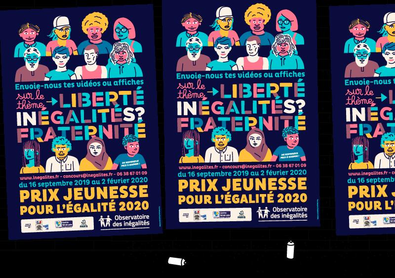 Affiche du Prix Jeunesse pour l'Égalité 2020