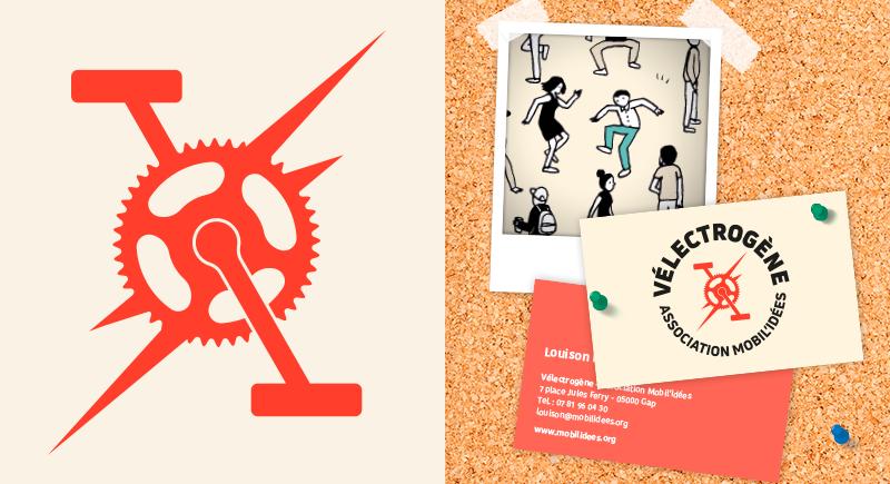 logo Velectrogene - les poulets bicyclettes